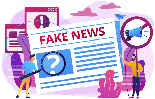 Fake news concept vector illustration